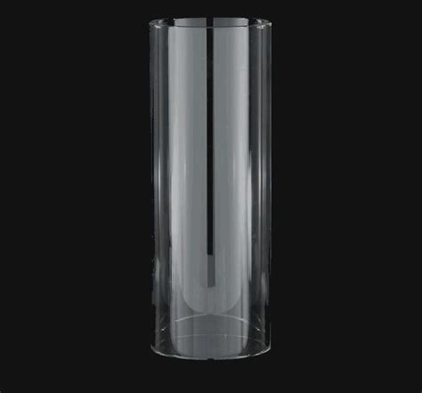 cylinder tube light l shade glass 3 x 8 candle holder