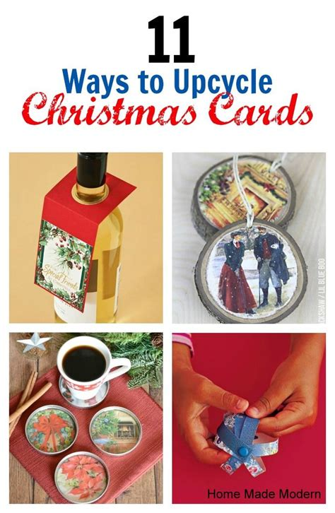 recycle christmas cards bloggers best pinterest