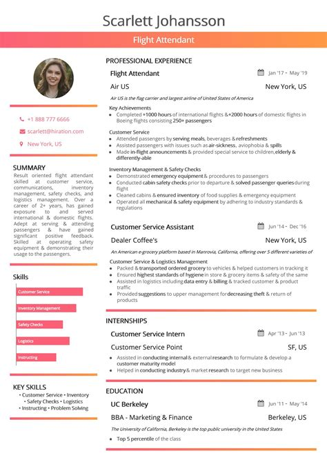 Resume For Airline by Flight Attendant Resume 2019 Guide With Hostess Resume