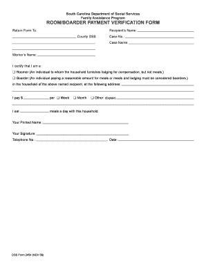 sc dss child care forms sc dss education verification form fill online