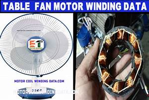Table Fan Motor Winding Data 8 Slot With 8 Coils By