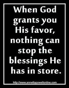 God's favor... Love Favour Quotes