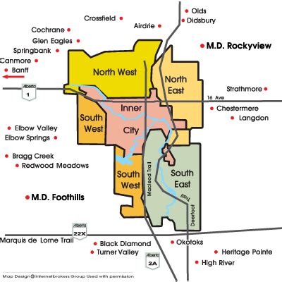Calgary Real Estate Maps: MLS® Calgary Zone Maps