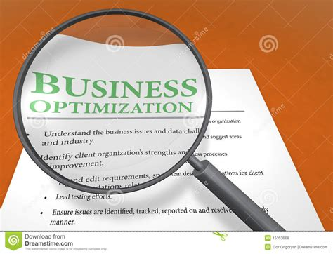 Optimization Company by Business Optimization Stock Illustration Illustration Of