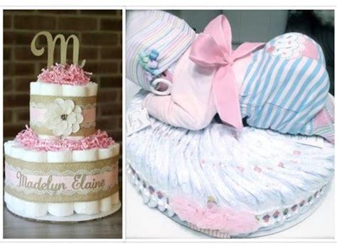 cute diaper cake ideas  girls youtube