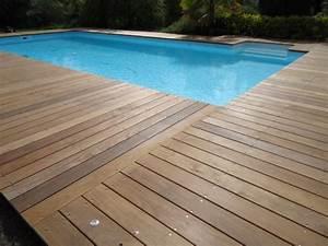 deck 40tour de piscineterrasse de piscine en bois landes With bord de piscine en bois