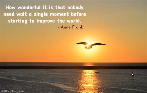 beautiful anne frank quote  making  world