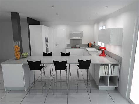 etude cuisine etude cuisine armony vif en forme de u et mur de colonnes