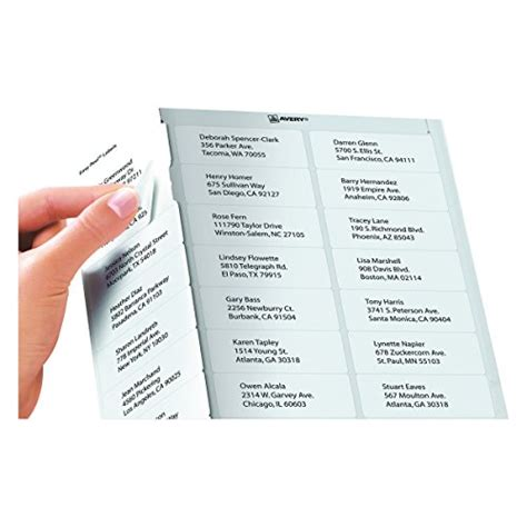avery 5260 easy peel mailing address labels laser 1 x 2