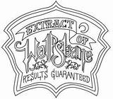Halloween Labels Wolfsbane Coloring Pages Printable Apothecary Urbanthreads Embroidery Patterns Designs Urban Threads Potions Hand Tutorials Fresh Creative Machine Colouring sketch template