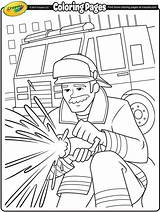 Firefighter Coloring Crayola Firefighters Firemen Fireman Fire Pages Sheets Colouring Drawing Thank Fighting Printables Firetruck Print Printable Idols Preschool Helpers sketch template