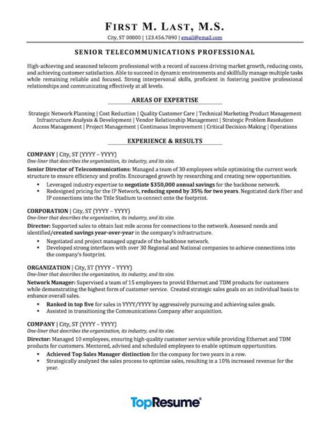 telecommunications resume sample professional resume