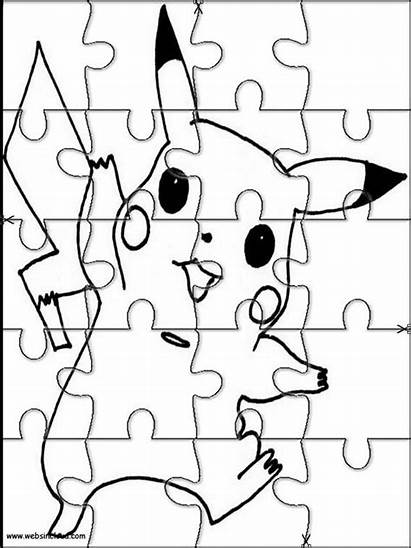 Pokemon Puzzles Jigsaw Printable Cut Puzzle Coloring