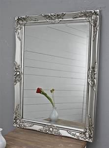 Barock Spiegel Silber Groß : spiegel silber antik 82 x 62 cm holz wandspiegel barock badspiegel standspiegel ebay ~ Markanthonyermac.com Haus und Dekorationen