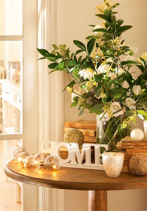 ideas  decorar de navidad tu casa en dorado  blanco