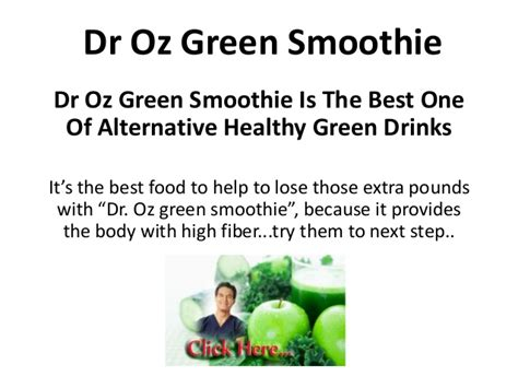 Dr Oz Resume by Dr Oz Green Smoothie