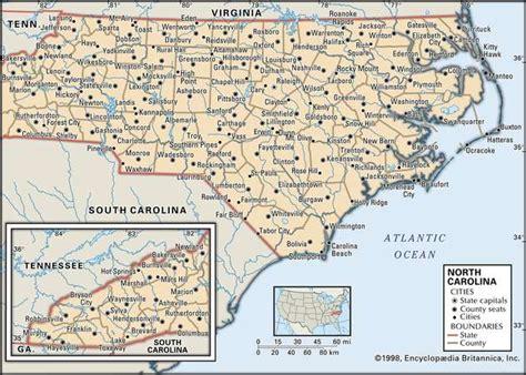 North Carolina Capital Map History And Facts