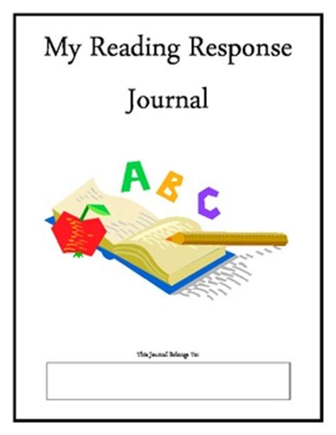 reading response journal cover reading response journal aligned with common by