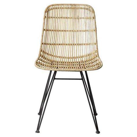 chaise osier ikea bloomingville chaise en rotin et métal noir