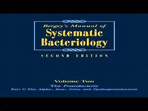 Bergeys Manual Of Systematic Bacteriology Volume 2 The Proteobacteria Part B The Gammaproteobacteria Proteobacteria V 2 Bergeys Manual Of Systematic Bacte