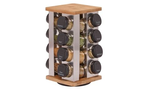 16-jar Spice Rack With Spices