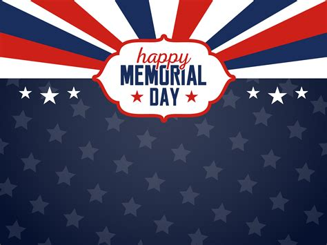 Happy Memorial Day Background. USA Flag Banner with Copy ...
