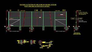 Weld Mesh Fencing System Dwg Block For Autocad  U2013 Designs Cad