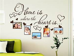 Sprüche Für Bilderrahmen : wandtattoo fotorahmen home ist where the heart is klebeheld ~ Markanthonyermac.com Haus und Dekorationen
