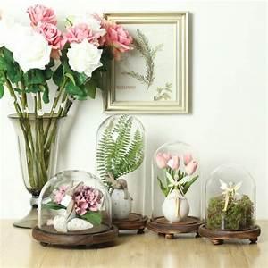 Cloches en verre déco- 30 idées de déco printemps / Pâques