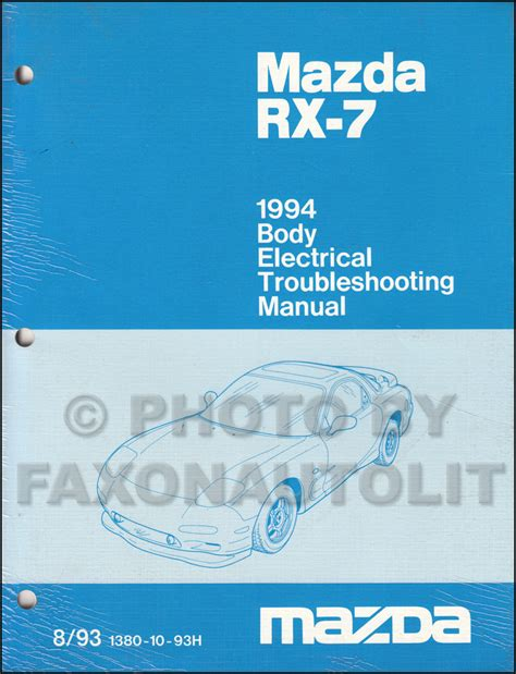 free online auto service manuals 1995 mazda rx 7 navigation system 1994 mazda rx 7 body electrical troubleshooting manual original