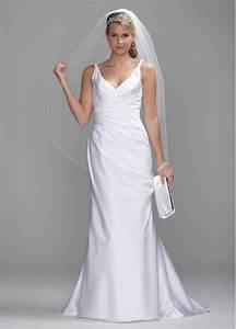 db studio satin slim wedding dress with twist straps and With db studio wedding dresses