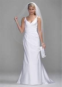 db studio satin slim wedding dress with twist straps and With side strap wedding dress