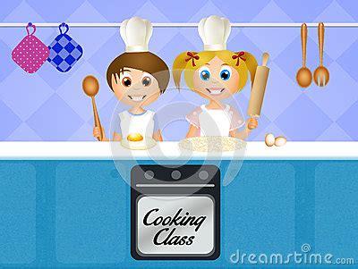 cours cuisine italienne cours de cuisine pour des enfants illustration stock