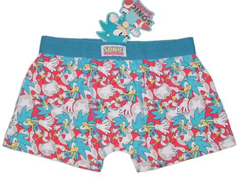Nwt Sonic The Hedgehog Blue Boxer Brief Trunk No Fly