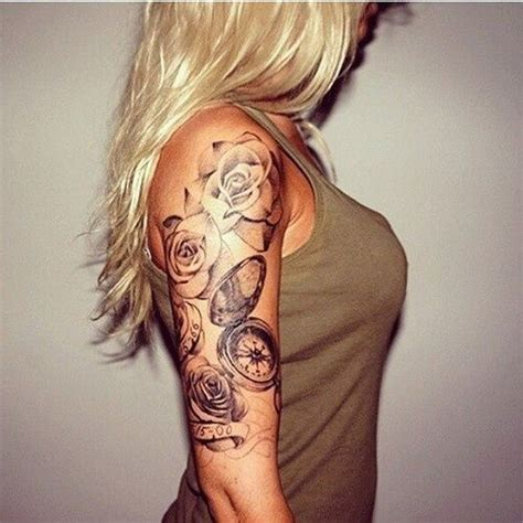 cool  pretty sleeve tattoo designs  women