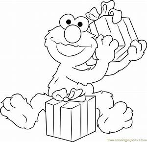 Happy Birthday Elmo Coloring Page - Free Sesame Street ...