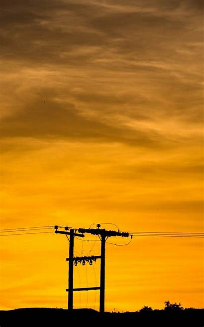 Sunset Sky Wires Pillar Wallpapers Kindle Fire