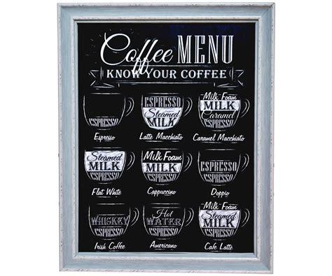 accessoire meuble cuisine tableau toile cadres imprimé ardoise affiche pub rétro