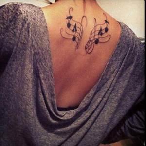 Alas Musicales Tatuajes para Mujeres