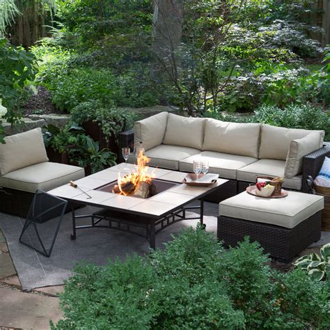 patio pit set belham living marcella all weather wicker 50 in pit