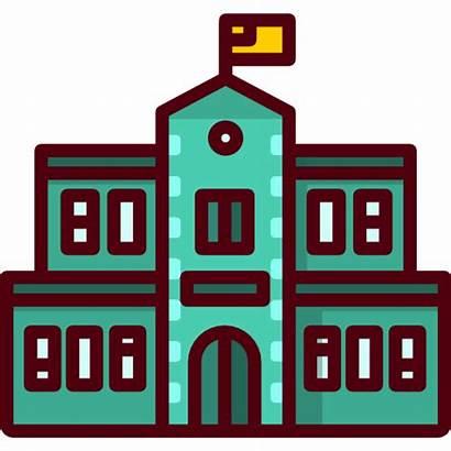 Icon College University Icons Classroom Education Architecture