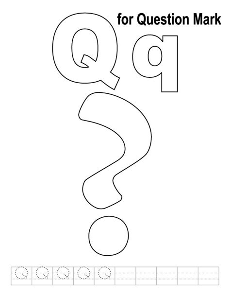 question mark coloring page  handwriting