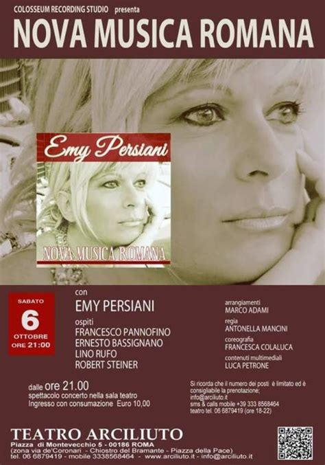 Emy Persiani by Musica Romana Di Emy Persiani Presentato A Roma