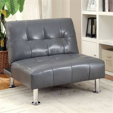 futon chaise lounge leather lounge chair modern tufted ottoman chaise
