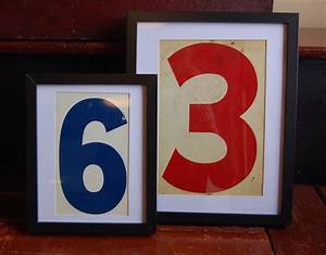 Yellow Chair Market » Framed Vintage Gas Station Numbers