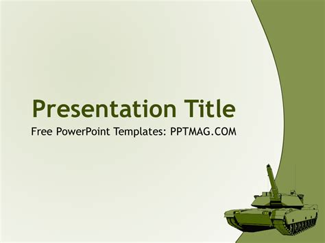 tank powerpoint template pptmag