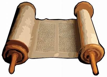 Scroll Clipart Testament Scrolls Clip Torah Paper