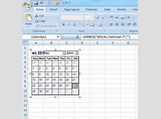 Insert Calendar Control in Worksheet