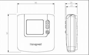 Termostato Digital De Ambiente Honeywell Dt90e Con Funci U00f3n Eco