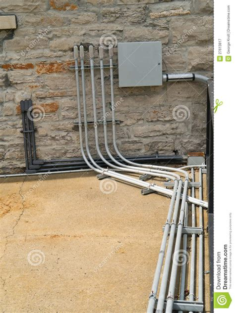Electrical Conduit And Panel Stock Image  Image 27613817